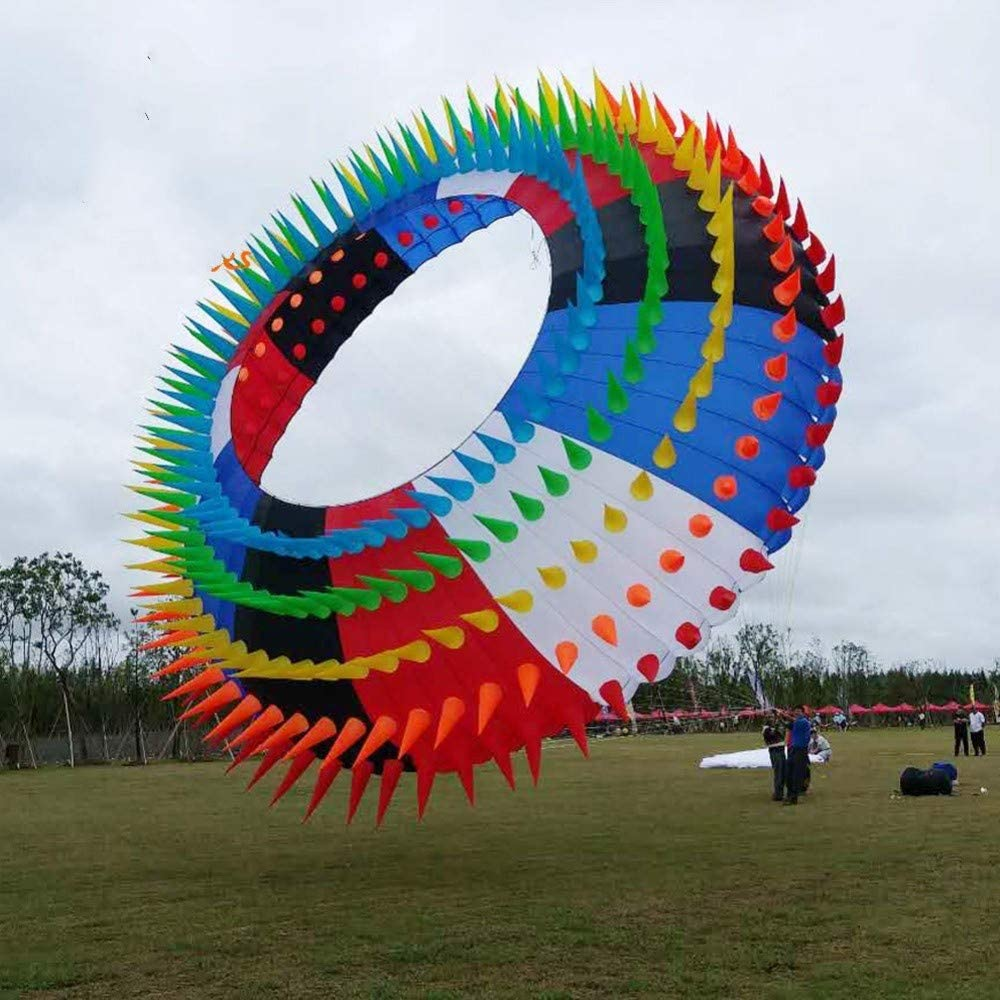 ADGSSJ Cometa, Rainbow Ring Halo 5m Cometa Suave con Puntas para decoración de Festivales de espectáculos al Aire Libre