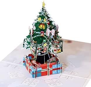 Tomorrow Sun Shine 3D Tarjetas De Felicitación De Navidad, Árbol De Navidad Pop Up, 10 Pack Conjunto con Sobres, Navidad/Año Nuevo/Cumpleaños, Invierno, Tarjetas De Vacaciones (15 * 15Cm): Amazon.es: Hogar
