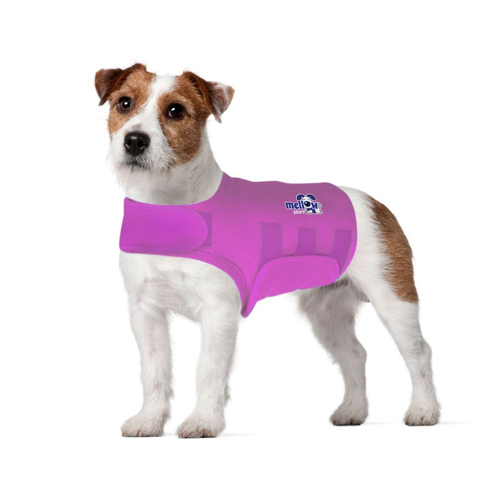 Mellow Shirt Dog Anxiety Calming Wrap Radiant Orchid Small (20-29 lb)