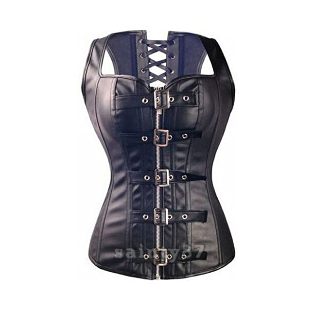 Missyhot Cors¨¦ atractivo Con cinturon en bandolera En cuero Ropa interior para mujer Con