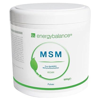 EnergyBalance OptiMSM MSM polvo 500g | Polvo 100% puro ...