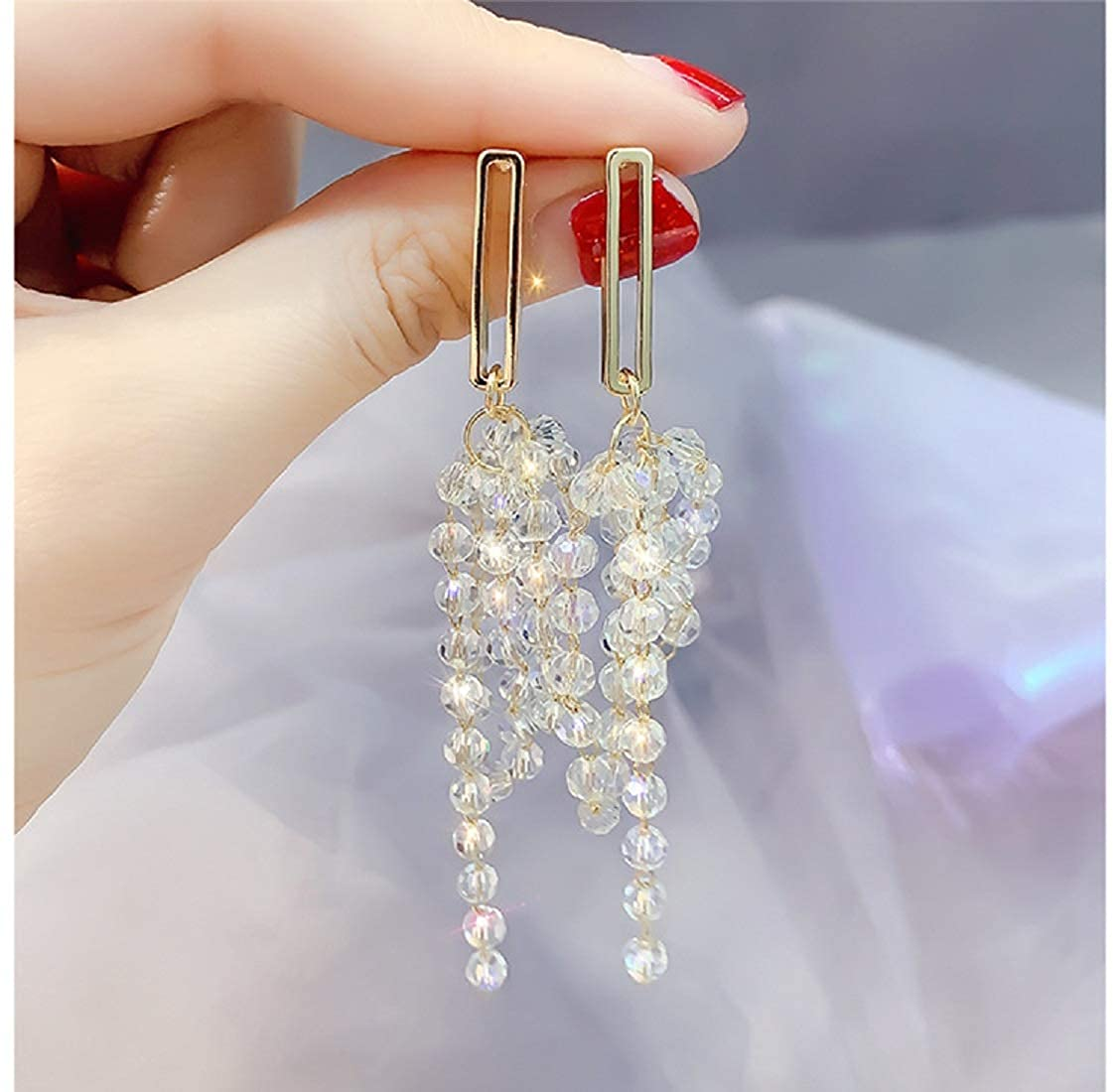 Fashion Simple Style Earring Great Gifts for Women Girls JXVLUYE Colors Earring for Women Girls Long tassel