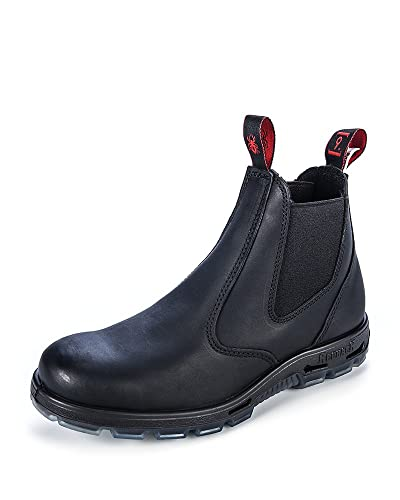 Redback Mens Bobcat UBBK Elastic Sided Soft Toe Black Leather Work Boot 9 AU 3E