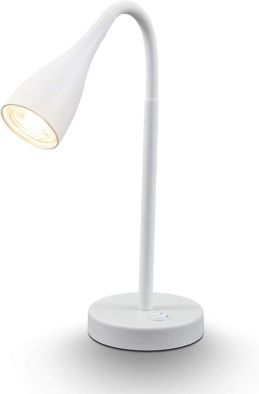 B.K.Licht I Lámpara LED de mesa blanca I Lámpara flexible de ...
