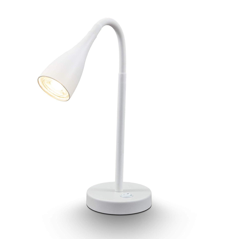 B.K.Licht I L/ámpara LED de mesa blanca I L/ámpara flexible de escritorio incl GU10 LED I 5W I 400lm I 3.000K