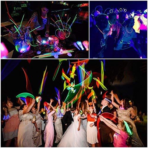 Mix, 240 PASA Glow Sticks Bulk Party Supplies,240Pcs Light Up Toys for Kids:100 Count 8 Glowsticks,Connectors 240Pcs Light Up Toys for Kids:100 Count 8 Glowsticks Flower Balls,Luminous Glasses and Triple//Butterfly Bracelets for Kids