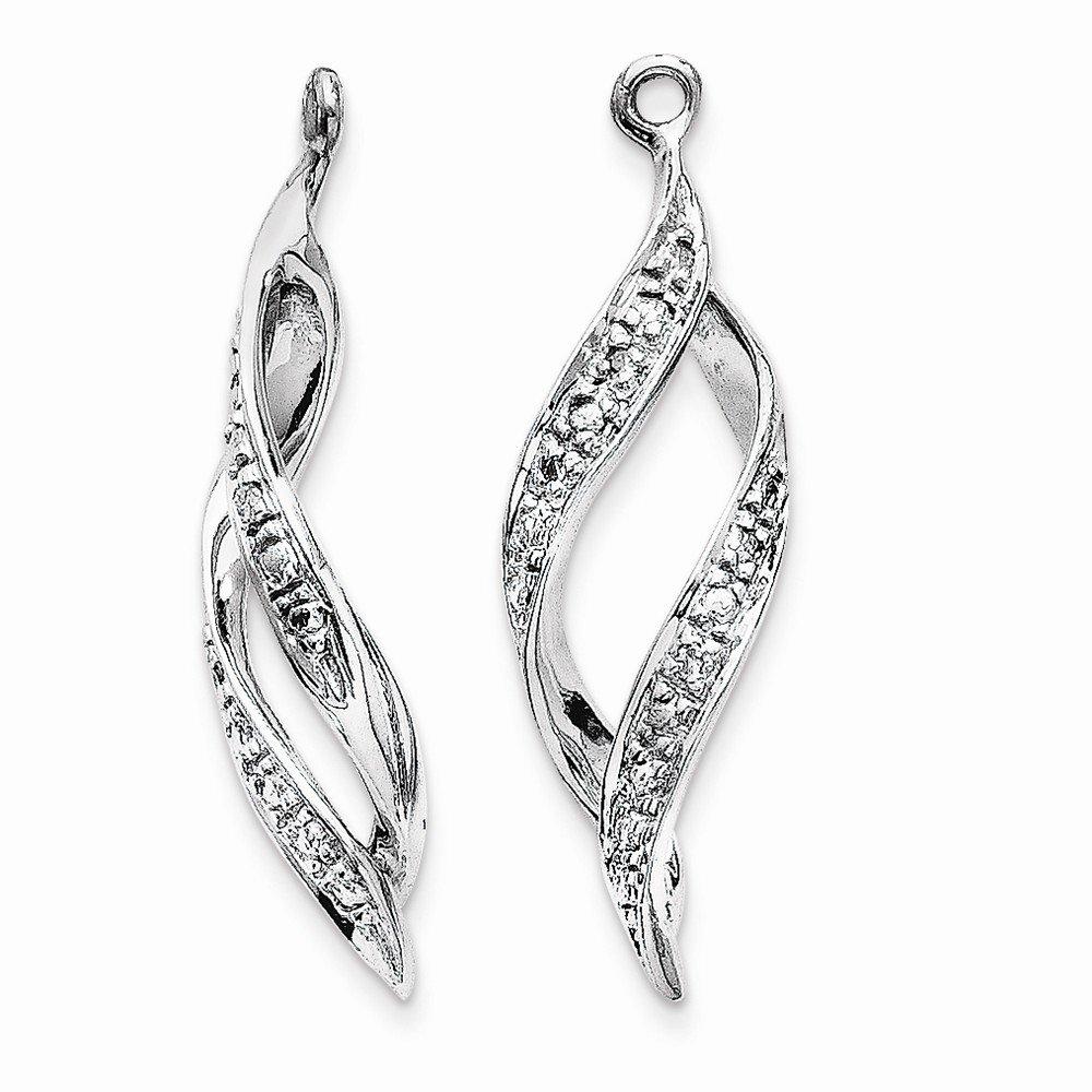 Roy Rose Jewelry 14K White Gold 0.02-Carat Diamond Earrings Jackets
