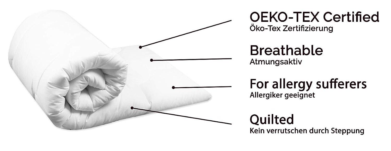 waschbar /ÖkoTex 80x80 cm Mikrofaser Zollner Baby Bettdecke wei/ß