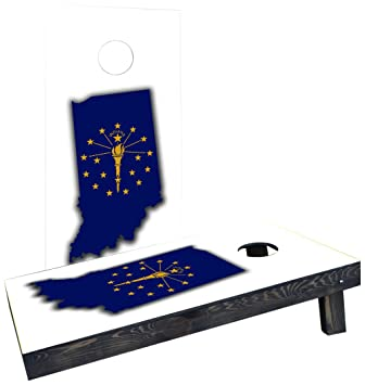 Indiana State Flag Cornhole Board Set Backyard Games Cornhole Bag Toss