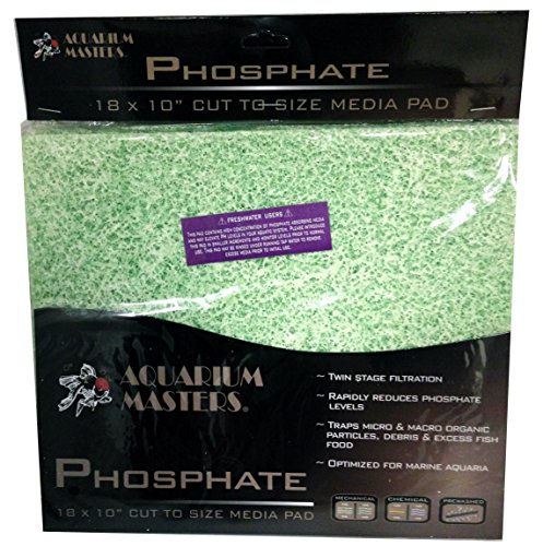 Phosphate Reducer Pad - Cut To Fit, For Aquarium Filtration, Terrarium Filtration, and other ()
