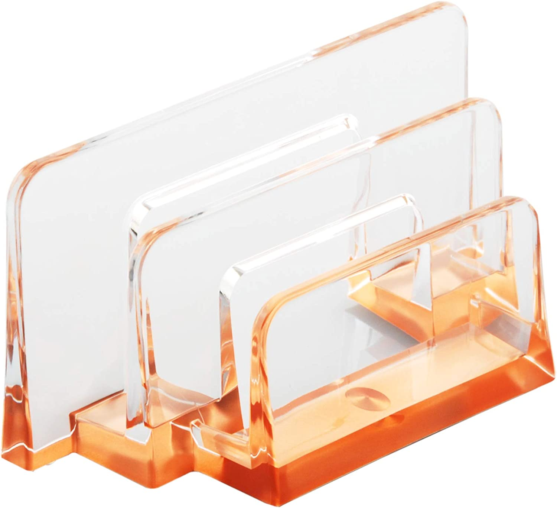 COM.TOP - Acrylic Letter Sorter- Rose Gold Envelope, Letter, Card Organizer, Office Supplies, Desk Accessories, 6.38x2.44x3.15