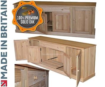 solid oak hidden home. Solid Oak 7ft 2\u0026quot; Wide Sideboard Hidden Home Office Hideaway Desk,  Handcrafted Bureau Workstation Solid Oak Hidden Home R