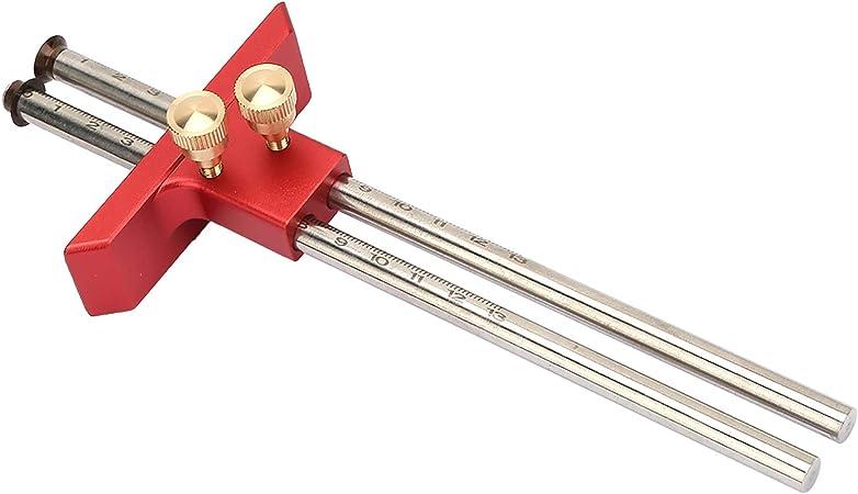 rojo herramienta de calibre de mortaja para madera para carpinter/ía Calibre de marcado de ruedas