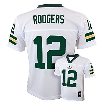9d814a86 Outerstuff Aaron Rodgers Green Bay Packers #12 NFL Youth Alternate Jersey  White (Youth Small