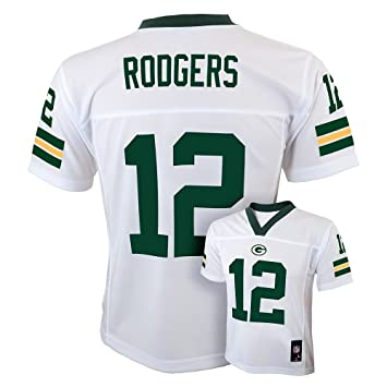 reputable site 68ae4 3f0dd Outerstuff Aaron Rodgers Green Bay Packers #12 NFL Youth Alternate Jersey  White