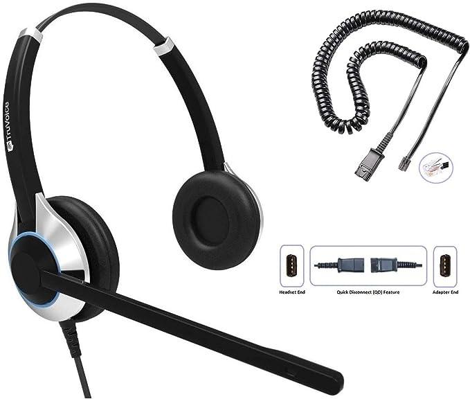 Truvoice Deluxe Headset Für Call Center Büro Mit Noise Cancelling Mikrofon Und Kabel Für Alle Cisco 6000 7800 Und 8000 Serie Handys Und Modelle 7931 7940 7941 7942 7945 Telefon Elektronik