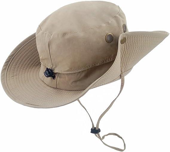 LETHMIK Outdoor Waterproof Boonie Hat Wide Brim Breathable Hunting Fishing Safar