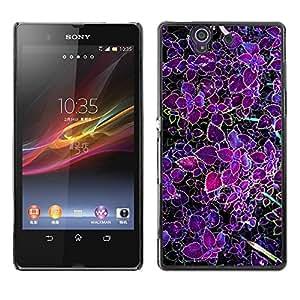 Be Good Phone Accessory // Dura Cáscara cubierta Protectora Caso Carcasa Funda de Protección para Sony Xperia Z L36H C6602 C6603 C6606 C6616 // Purple Tropic Green Spring