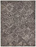 Rivet Motion Patterned Wool Area Rug, 3'9″ x 5'9″, Charcoal