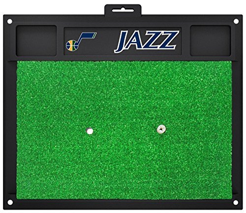 Fanmats NBA Utah Jazz Team Logo 20x17 Inch Golf Hitting Mat Heavy Duty Turf by New Fanmats