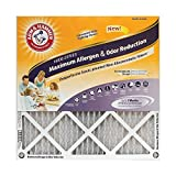Arm & Hammer Max Allergen & Odor Reduction 18x18x1  Air and Furnace Filter, MERV 11, 4-Pack (Renewed)