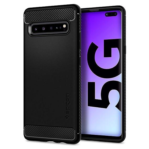 Spigen Rugged Armor Designed for Samsung Galaxy S10 5G Case (2019) - Matte Black