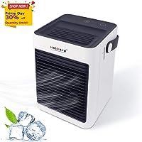 HeiPard Mini Portatile Condizionatore, USB Air Cooler Climatizzatore Freddo Raffrescatore, Evaporativo Compatto con Umidificatore e Purificatore d'aria,adatto per casa, camera da letto, ufficio