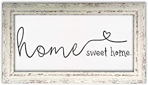 ARKENY Farmhouse Wall Decor Hanging Art Home Sweet Home Sign Rustic Framed Canvas Printing for Living Room Kitchen KS002-9