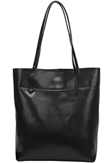 Obosoyo Women's Handbag Genuine Leather Tote Shoulder Bags Soft ...