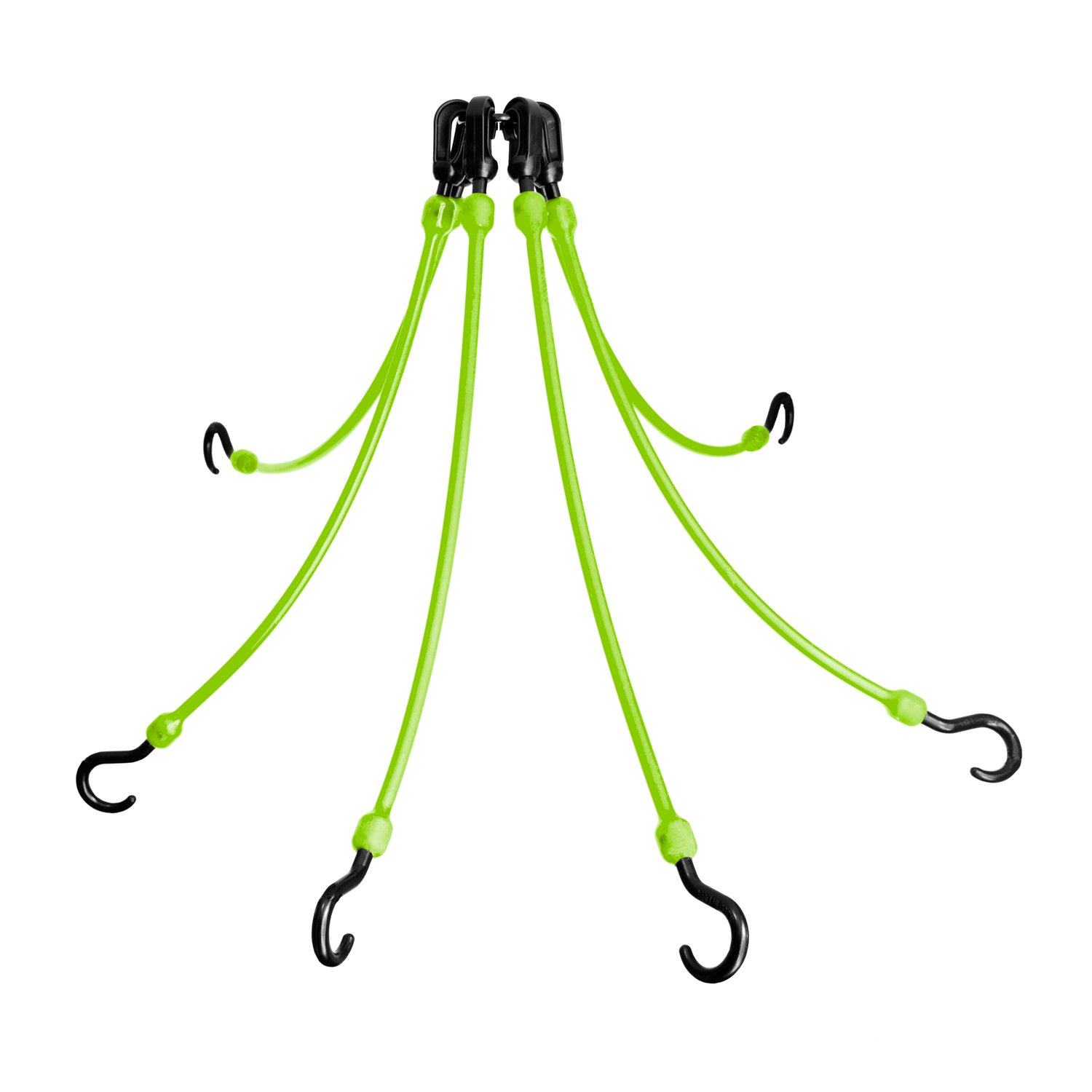 The Perfect Bungee 6-Arm 18-Inch Flex Web, Safety Green