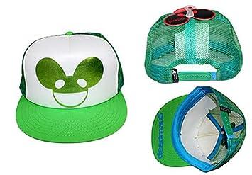 e0f39d270 DJ Deadmau5 Dubstep EDM House Green Foil Logo Trucker Hat Adjustable  Snapback Cap