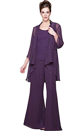 c41f3ec5826 Newdeve Chiffon 3 Pieces Light Purple Mother Pant-Suit Dress Plus Size (2)