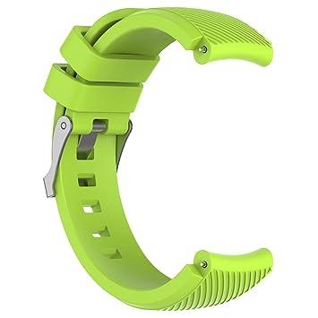 Riou Correa para Reloj,❤️Compatible con HUAMI Amazfit Stratos Smart Watch 2 Correa de Reloj Suave de Silicagel para Reloj Deportivo Pulseras de ...