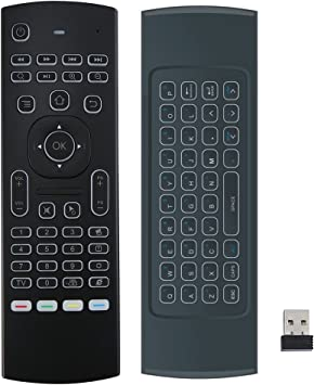 chengstore retroiluminado aire ratón 2.4 G inalámbrico teclado remoto por infrarrojos aprendizaje KODI mando a distancia para Android TV Box, Smart TV HTPC PC Windows Mac OS Linux: Amazon.es: Electrónica