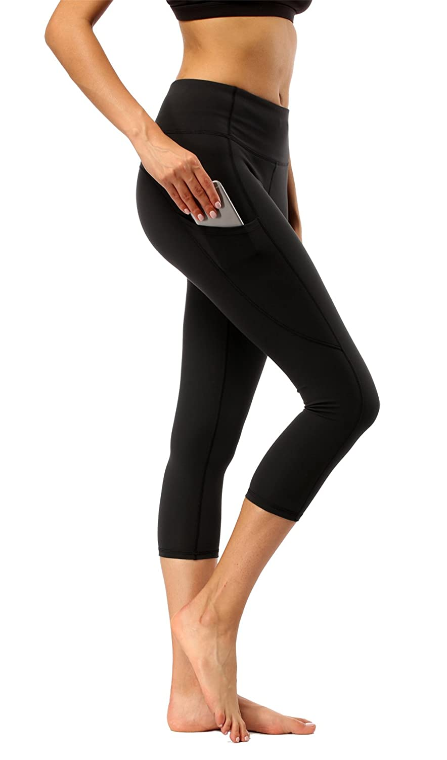 0c5a6176b1 ✅HIGH-QUALITY MATERIAL: These high waisted yoga capri leggings with pockets  are made out of 88% polyester and 12% spandex. The high-quality material,  ...
