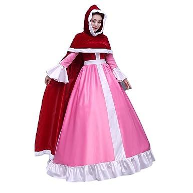 Amazon.com  mewow Halloween Costume Women s Deluxe Princess Red ... 2dfcca5728