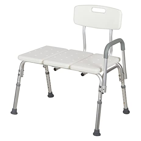 waagee medical shower chair 10 height adjustable bath tub bench stool seat back and arm