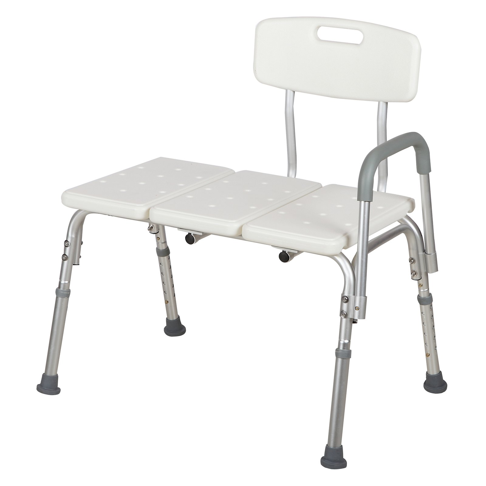 Mecor Medical Shower Chair Bathtub Seat Bench Stool 10 Height Adjustable Bath Lift Chair with Removable Back and Arm