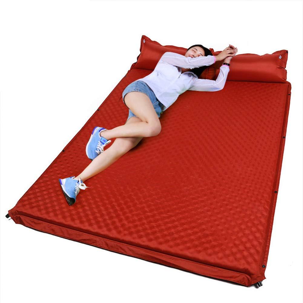 JTYX Tapis de Couchage Matelas Matelas Gonflable air résistant à l'humidité avec Oreiller Portable Pliant Gonflable Double lit