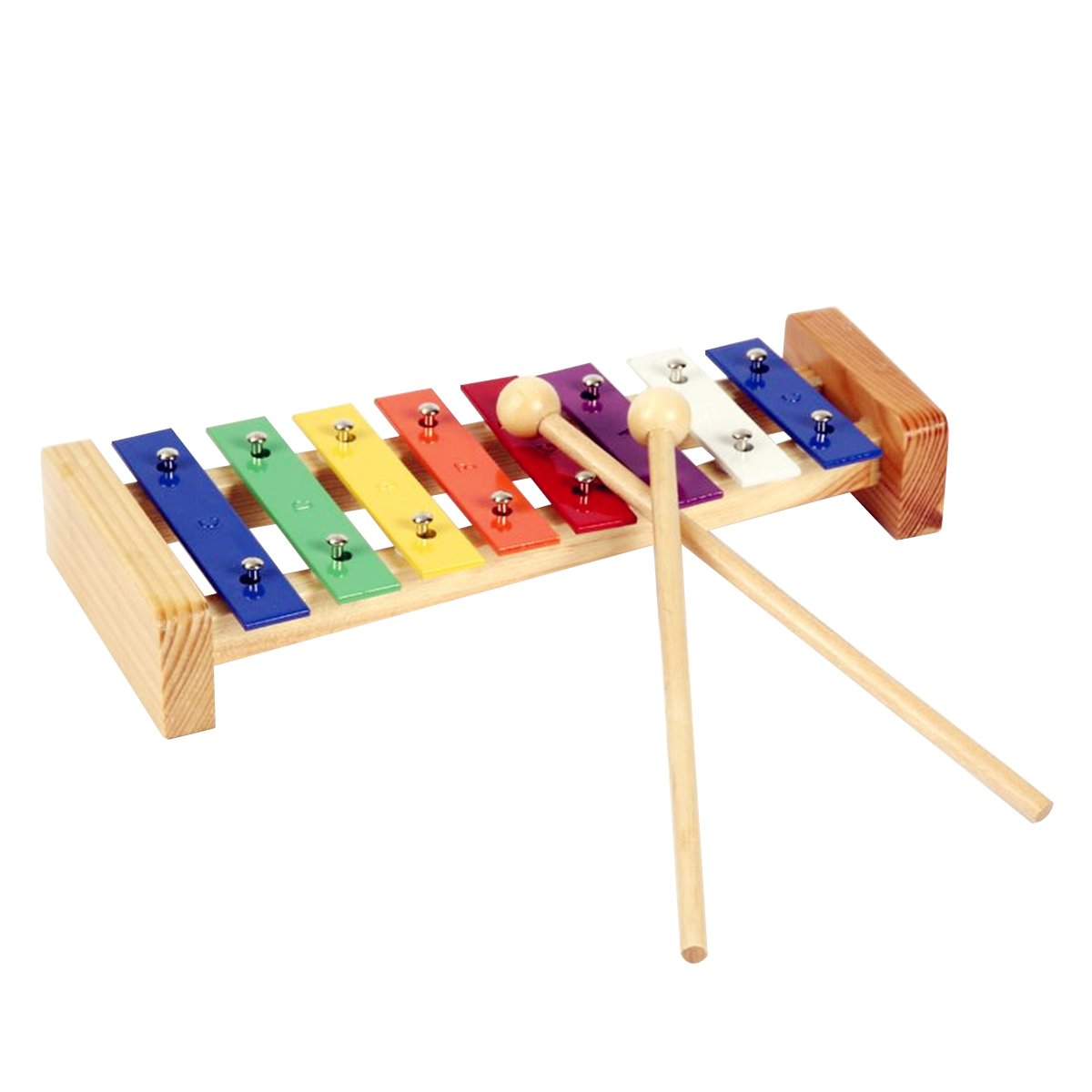 ROSENICE Wood Percussion Xylophone Musical Toy with with Bright Multi-Colored Key for Kid 160317ITTP35075