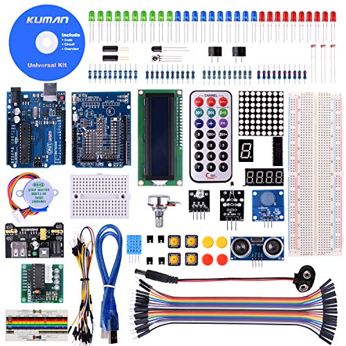 Kuman K4-US for Arduino Project Complete Starter Kit with Detailed Tutorial and Reliable Components for UNO R3 Mega 2560 Robot Nano breadboard Kits -