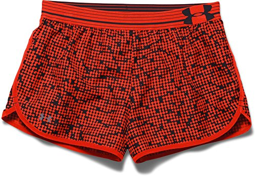 Under Armour Running - UA Print Perfect Pace Shorts - Pantalones cortos de running para mujer Orange - Dko/Ref