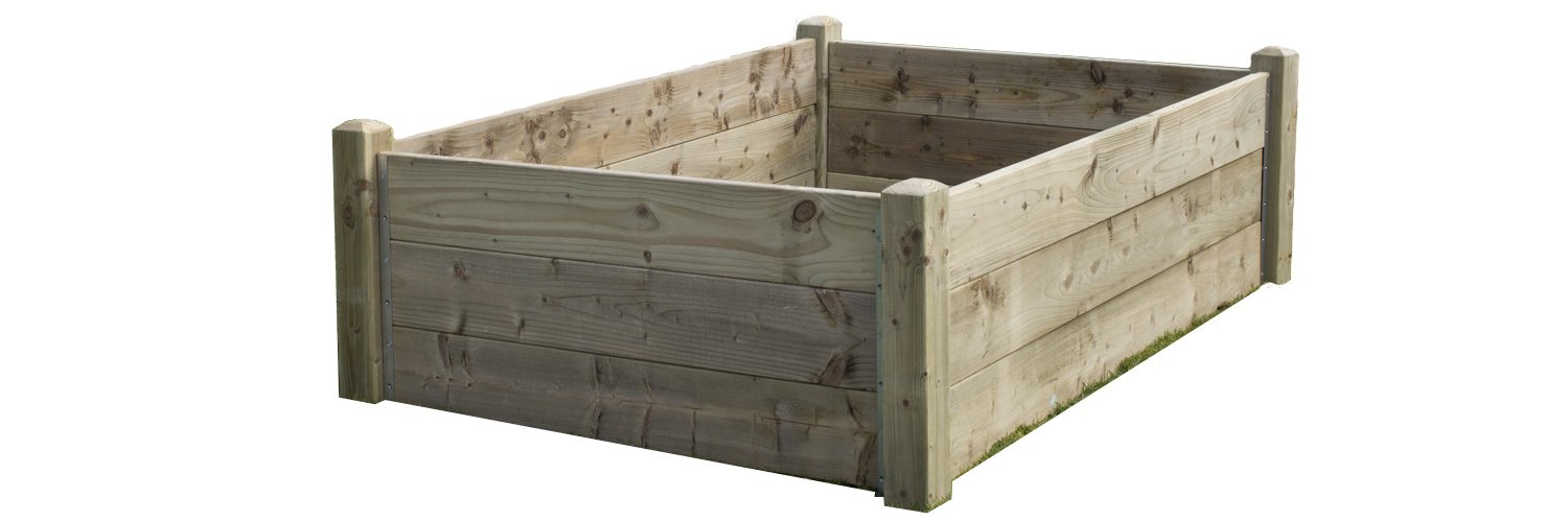 Quickcrop Deluxe 21in High Raised Bed Kit (4ft x 4ft)
