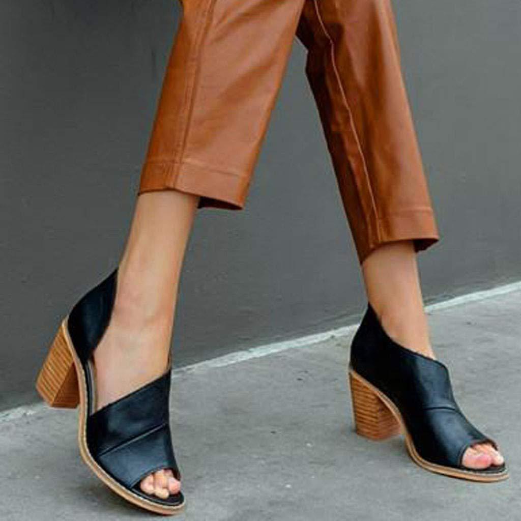 Damen Sandalen Stiefel Blockabsatz Ankle Stiefeletten