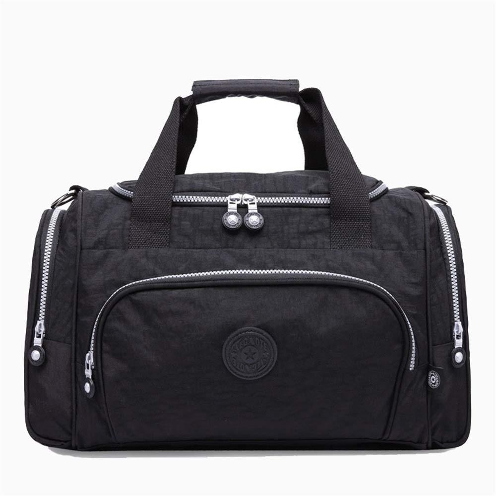 Ybriefbag Unisex Multifunctional Travel Bag / Wear-Resistant Nylon Bag Shoulder Portable Dual Use Large Capacity Light Travel Bag Diagonal Bag Yoga Bag Vacation Color : Black