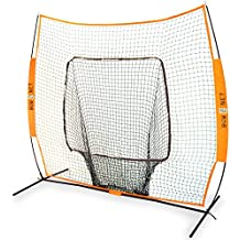 Bownet 7' x 7' Big Mouth X - Original and Most Reliable Portable Sock Net for Baseball and Softball Hitting and Pitching
