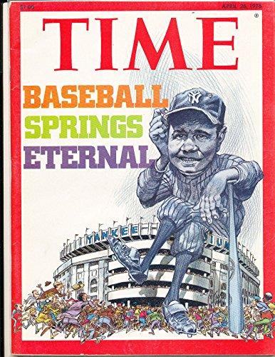 Babe ruth New York Yankees 4/26 1976 newsstand Time Magazine