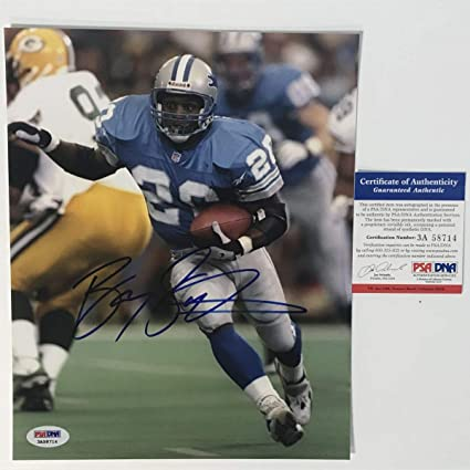 c49e14e3c9f Image Unavailable. Image not available for. Color: Autographed/Signed Barry  Sanders Detroit Lions ...