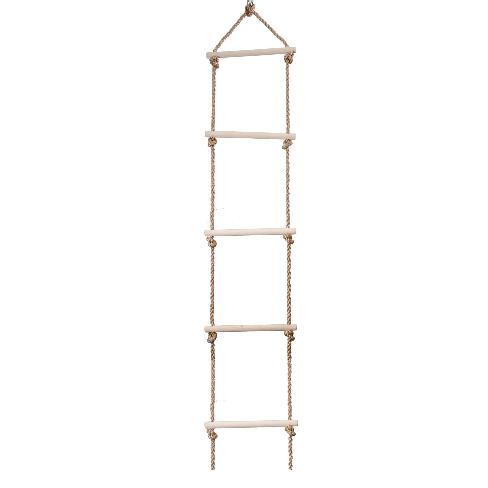 AWZSDF Sturdy Rope Climbing Ladder -Playground Climbing Five-Speed Ladder Wooden Children Climbing Ladder Swing Outdoor Sports for Kids Indoor/Outdoo by AWZSDF