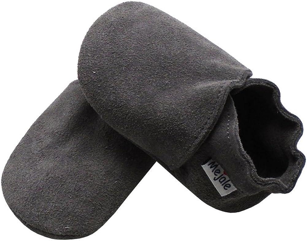 6-12 Months,Grey Mejale Baby Infant Toddler Shoes Anti-Slip Soft Soled Suede Leather Moccasins Pre-Walker